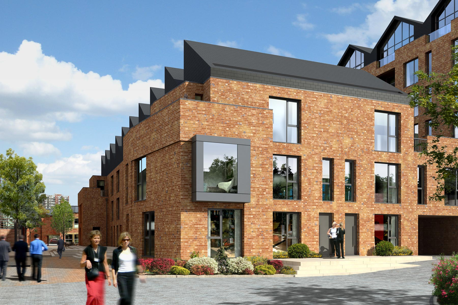 A street of 15 two and three-bedroom townhouses at Ironworks.